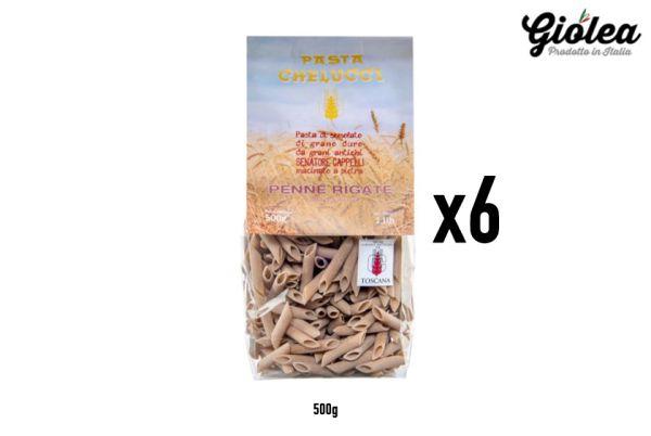 Vorratspack 6x500g Penne Rigate Senatore Cappelli Pasta Chelucci