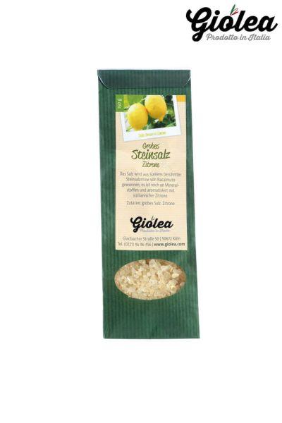 Grobes Steinsalz mit Zitrone aus Italien 150g - Giolea
