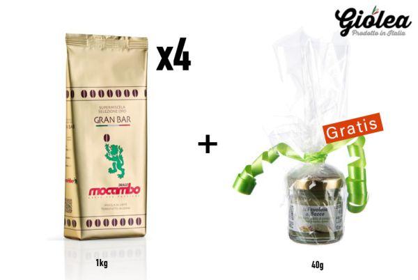 Vorratspack Mocambo Kaffeebohnen Gold Gran Bar 4 x 1kg Packung