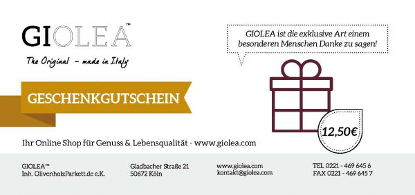 Gutschein 12,50€ - Giolea