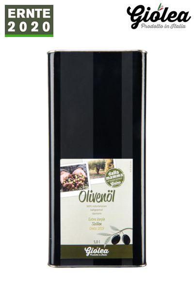 """Extra natives Olivenöl aus Italien """"dalla Mamma"""" 5 Liter Kanister - Giolea"""