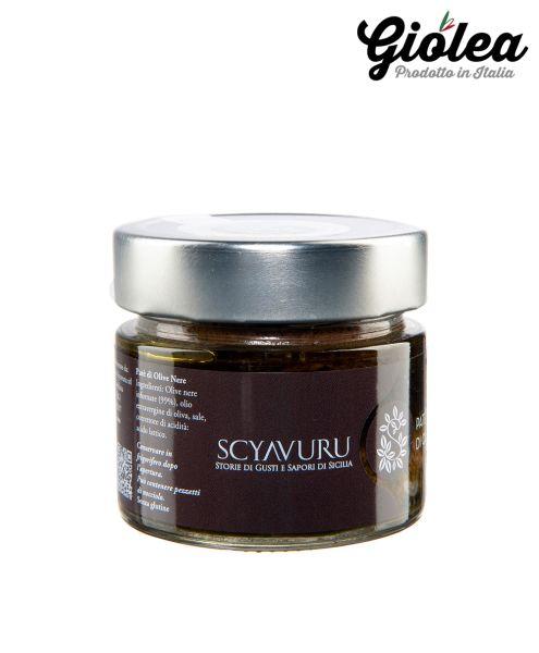 Pate di olive nere - Schwarze Olivenpaste 250g - Scyavuru