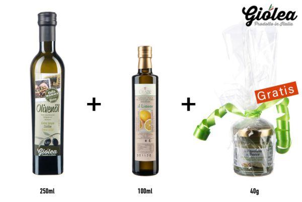Geschenkbox Extra natives Olivenöl aus Italien - Giolea