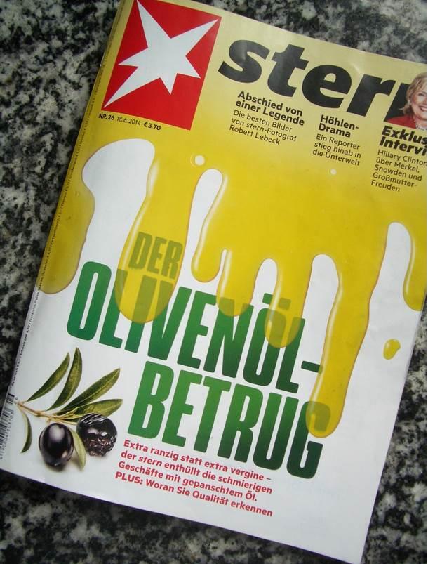 Stern Der Olivenölbetrug