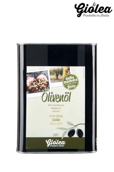 "Giolea Extra natives Olivenöl aus Sizilien ""dalla Mamma"" 2 Liter Kanister"