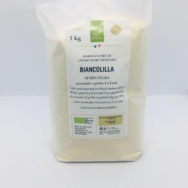 Bio Hartweizen Halbvollkornmehl aus Sizilien Biancolilla - Molini Riggi