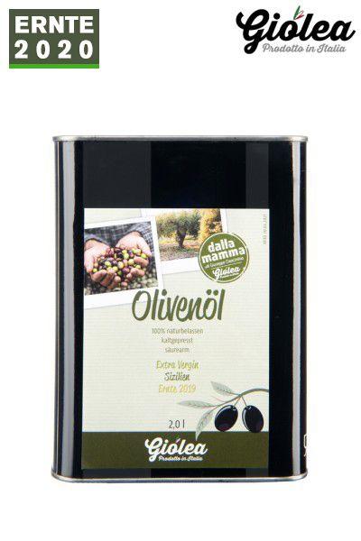 """Extra natives Olivenöl aus Italien """"dalla Mamma"""" 2 Liter Kanister - Giolea"""